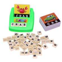 Alphabet Letters Figure Spelling Games Cards English Word Puzzle Children's Educational Literacy Fun Early Learning Toys D40