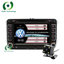 2 din VW Car DVD player GPS for VW GOLF POLO JETTA TOURAN MK5 MK6 PASSAT B6 Skoda Seat radio stereo IPOD MAP BT+rear view camera(China)