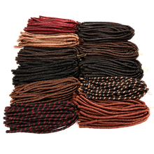 Silike 14'' 30 Roots folded 1 Pack Soft Crochet Dreadlocks Braids Weaving Black Brown Mixed Red Softex Locks hair Extensions