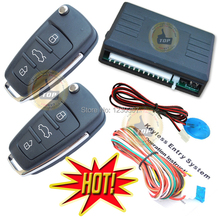 flip key remote keyless entry system remote central lock or unlock car door auto window up output CE passed(China)