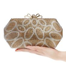 NEW Bow Cute Lady Rhinestones Purse Evening  Bags One Side Chain Shoulder Handbags For Wedding