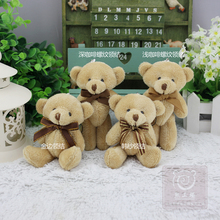 12cm Kawaii Soft Bear Toys For Bouquets Wedding,Fluffy Plush Mini Bear toys,Hanging Toy Stuffed Plush Toys Bear Dolls,juguetes(China)