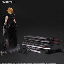 RDMMYC Gifts Final Fantasy Action Figure Toys 28CM FF Cloud Strife Play Arts Kai Model Collectible doll FF Playarts Kai toys