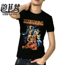 2017 New Metal Rock Band Scorpions Logo Legend Men's Black O-neck T Shirt Custom Man/Women Short Sleeve Casual Shirt Summer Top