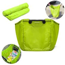 Lime Grab Bags Clip-To-Cart Supermarket Reusable Grocery Shopping Travel Bag levert dropship 726