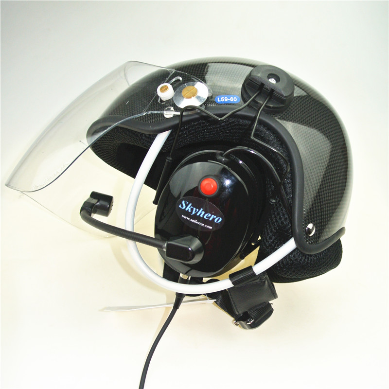 carbon paramotor helmet