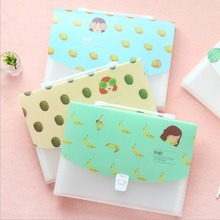 """Miss Fruit"" File Folder 12 Index Pockets Document Study Working Expanding Wallet Study Organizer Cute School Bag"