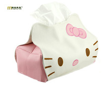 1PC Longming Home Creative Design Tissue Box Hello Kitty Design Home Cute Paper Towel Tube Hello Kitty Tissue Box LB 261