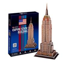 T0466 3D Puzzles Empire State Building DIY Building Paper Model kids Creative gift Children Educational toys Ordinary Version(China)