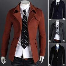 New Arrival Winter Men's Overcoat Single-breasted Coat fashion Design trench men's wool coat