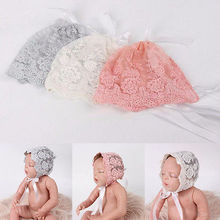 NEW Fashion Newborn Baby Girl Boy Lace Hat Photo Costume Photography Prop Hats Cute Cap(China)