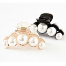 Buy Hair Clips Women Brief Elegant Hair Accessory Hair Caught Big Pearl Medium Hair Pin Hairpin Gripper Imitation Pearl Clamp for $2.05 in AliExpress store
