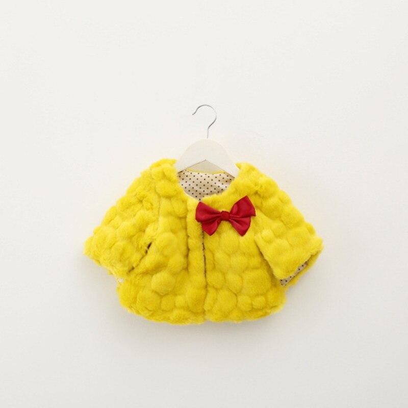 2017 Autumn girl fur coat children shawl cute bow thicken baby girls cloak jackets children s clothing girls faux fur outwear<br><br>Aliexpress