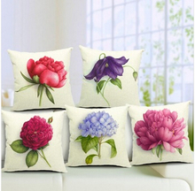 Cotton Large Flower Pattern Pillowcase  Rose Pillow Cover