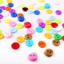 100-300 pcs Colorful Round 2 Holes 9 mm diameter Plastic Resin buttons for Child Kid Baby Cloth fashion accessories XP0389