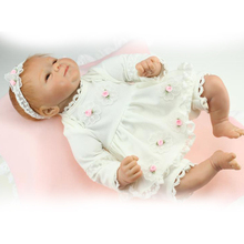 18 inch Silicone Reborn baby Dolls For Kids Gift Real Handmade Princess Alive Girl Bonecas New Born Baby Doll Bebe Reborn Menina