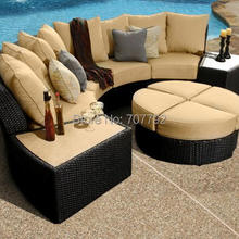 2017 New Luxury Furniture Wonderfull Resin Wicker Outdoor Sofa Set(China)