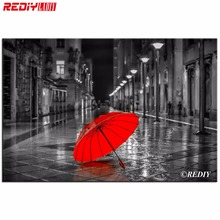 DIY 5D Diamond Mosaic Kits Full Diamond Painting Cross Stitch Red Umbrella Love Diamonds Embroidery Round Drill Home Decoration
