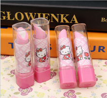 New Arrive Lipstick Design Student Eraser Rubber, Children hello Kitty Eraser, Office & School Supplies kawaii eraser for kids