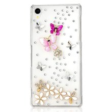 new arrival bling diamond rhinestone protective shell mobile phone case cover for sony Xperia Z3 D6653 L55T/E3/T3/T2/Z1 Mini/E1