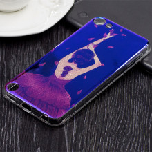 Fashion IMD Rose Girl Blue Ray Glitter Soft TPU Skin Case Cover For iPod Touch 6 6th 6G Touch 5 5th Phone Back Cover Capa
