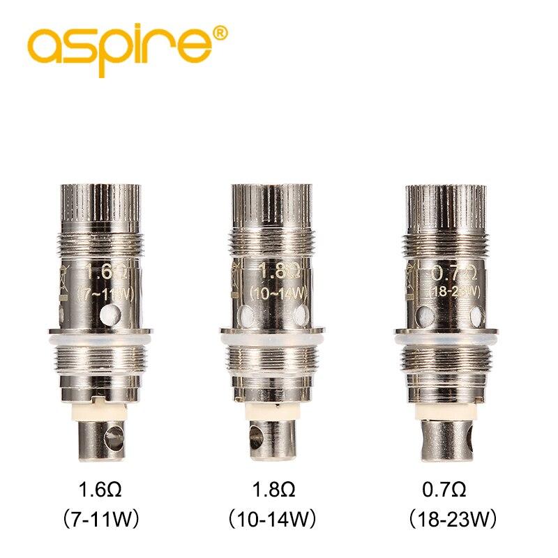 5pcs/lot Aspire Nautilus 2 BVC Coil Vape Coil 0.7/1.6/1.8 ohm Replacement E Cigarettes Coils for Nautilus Mini/Nautilus Aio/K3 1