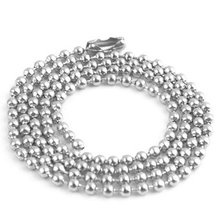 100pcs Free Shipping 2.4mm 20inch Stainless Steel Ball Beads Necklace Chain Stainless Steel Ball Chain KEYCHAIN Bead Chain(China)