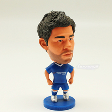 "Soccer Football Player Star 19# DIEGO COSTA (C-2017) 2.5"" Action Dolls Figurine"