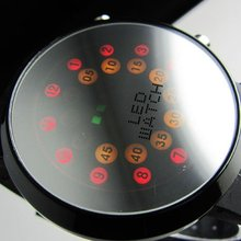 !!!Creative Mrror face LED Dot Matrix Men's Sport Watch freeship