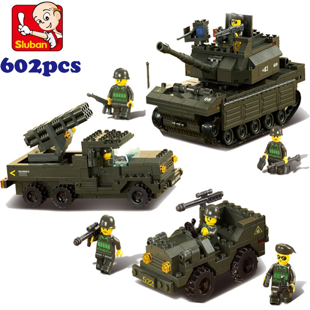 Sluban 6800 Tank DIY Block Compatible with eductional Building Blocks Sets Military Army Makava Tank children toys Gifts<br><br>Aliexpress