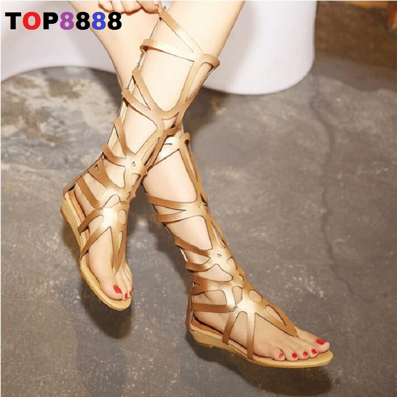 2017 European American New Fashion Woman Shoes Sexy Hollow Design Women Sandals Cut-Out Roman Wedge Shoes Girl Sandals ML3564<br>