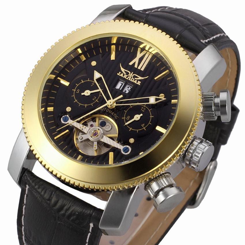 JARAGAR Luxury Brand Wrist Watch Sport Men Genuine Leather Tourbillion Mechanical Watches Cool Dress Watch Gift for Male(+BOX)<br>