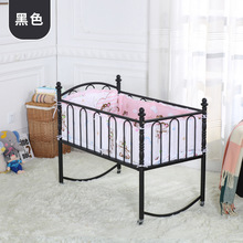 Trolley Baby Cribs baby Bedding Mother & Kids metal baby cradle with netting&bed sets whole sale 2017 good price hot new rocking