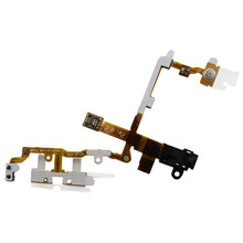 5pcs/lot Original welding Headphone Audio Jack Flex Cable Ribbon For iPhone 3G 3GS Power Volume side button Black and white
