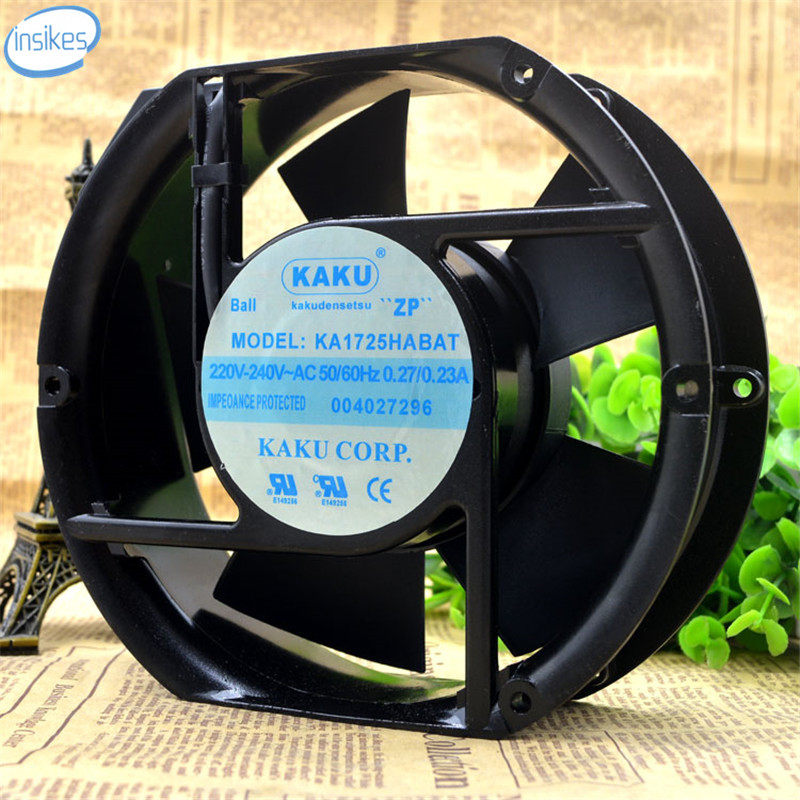 DHL Free KA1725HA2BAT AC 220V-240V 0.27A/0.23A 17252 17cm 172*150*52mm 50/60HZ 2 Wires Cooling Fan<br>