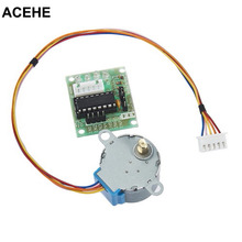 ACEHE New 5V Stepper Motor 28BYJ-48 With Drive Test Module Board ULN2003 5 Line 4 Phase Drop shipping