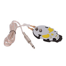 Yellow Skull New Pro Mini Tattoo Foot Pedal Control Footswitch Switch for Tattoo Machine Kit Power Supply Body Art Accessories(China)