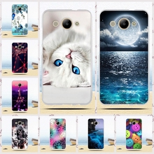 TPU Case For Huawei Y3 2017 5.0 inch Soft Silicon Back Phone Cover Cases For Huawei Y3 2017 / Y5 lite 2017 Cartoon Painted Shell(China)