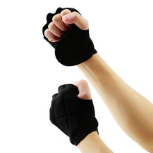 1Pair Men Women Limitless Black Sport Weight Lifting Fitness Gloves Gym Weight Lifting Fitness Exercise Training Gym Gloves(China)