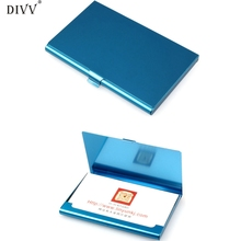 DIVV Creative Aluminum Holder Metal Box Cover Credit Business Card Wallet Happy Gifts High Quality Aluminum Alloys