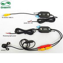 2.4GHz RCA Transmitter & Receiver Video Kit Wireless Rear view Camera For Car DVD Player Parking Monitor