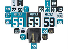 american jersey Cam Newton Christian McCaffrey Luke Kuechly Greg Olsen Thomas Davis Sr retro carolina US panthers jerseys(China)