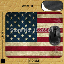 Usa Flag New Anti-Slip PC Laptop Mouse Mat For Optal Trackball Mouse