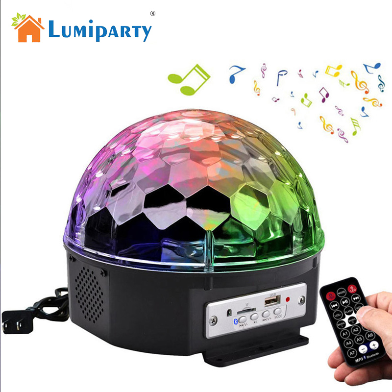 LumiParty Bluetooth Music Playing 6 Colors Changing Rotary Crystal Magic Ball LED Lamp Romantic Fairy Decorative Light<br>