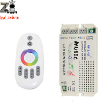 2.4G music led controller with wireless rf remote led controller for 3825 5050 rgb led strip dc12-24v
