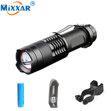 RU Lanterna Led Flashlight Diving Camping Hunting Fishing Bike Torch Led Rechargeable Military Police Flashlight Torch 18650