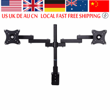 Double Monitor Arm Desk Mount Computer TV Screen Bracket Dual Stand 13-27 inch Monitor Holder(China)