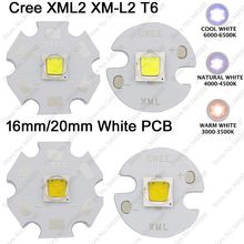2x CREE XML2 XM-L2 T6 High Power LED Emitter Cool White 6500K Neutral White 4500K Warm White 3000K 16mm 20mm White Aluminum PCB