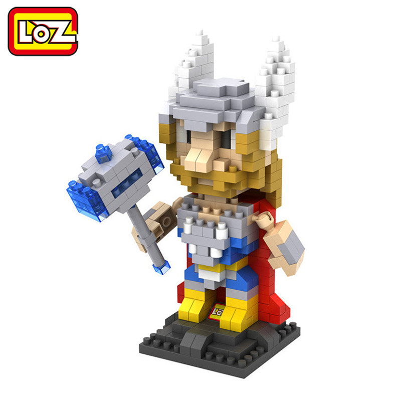 LOZ Thor Asgard Diamond Building Blocks Action Figure DIY Toy Children Educational Model The Avengers<br><br>Aliexpress