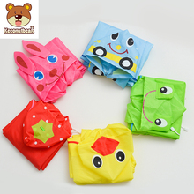 Kids Raincoat Children Baby Waterproof Keconutbear Rabbit Cute Cartoon Animal-Style Student